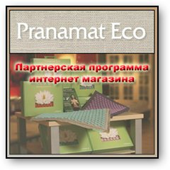 """Партнерка интернет магазина """"pranamat eco"""". Лого"""
